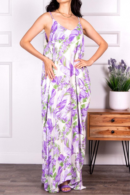 D30163-3<br/>Tropical Print Harem Dress