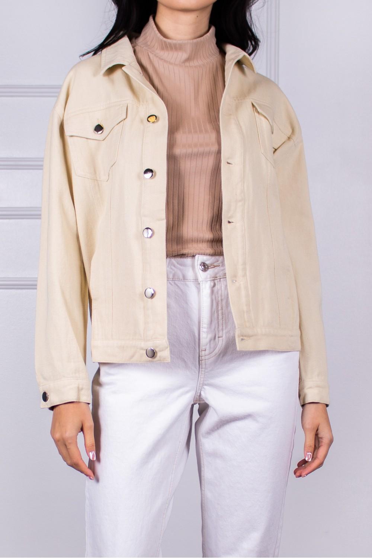 J70205<br/>Boyfriend Fit Color Denim Jacket