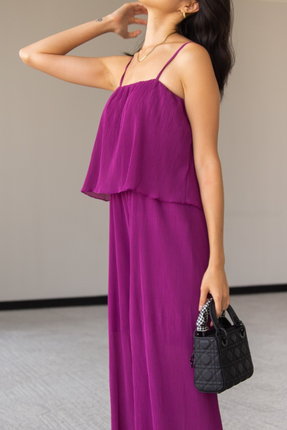 PJP90044<br/>Pleated Cami Strap Jumpsuit